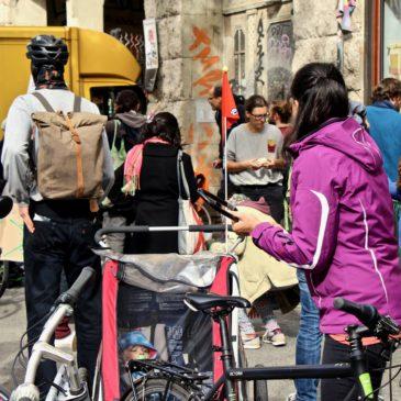 himmelbeet_ttc_streikfruehstueck_menschen_fahrrad_baumhaus
